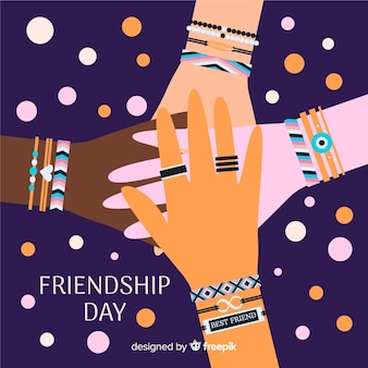 Fondo día de la amistad dibujado a mano