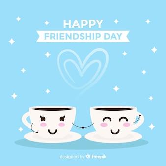 Fondo del día de la amistad de estilo kawaii