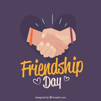 Fondo de día de la amistad con manos
