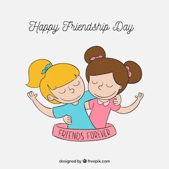 Fondo de día de la amistad con mejores amigas