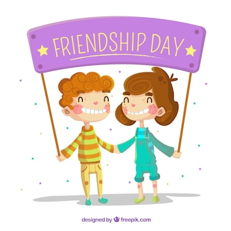 Fondo de día de la amistad con mejores amigos