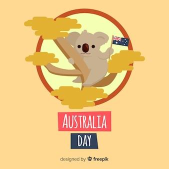Fondo del día australia en diseño plano