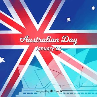 Fondo del día de australia en diseño plano