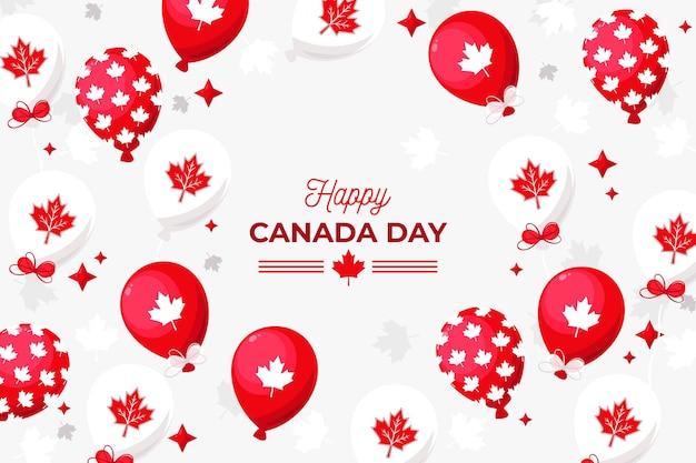Fondo para el día de canadá con globos