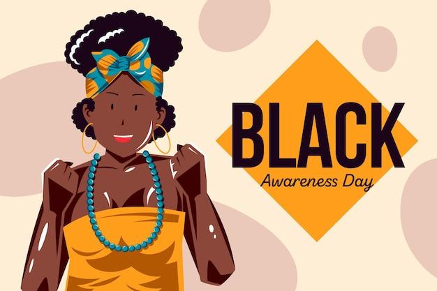 Fondo del día de la conciencia negra dibujado a mano