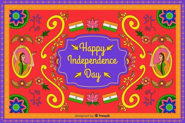 Fondo del día de la independencia de india en arte indio