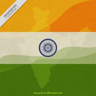 Fondo del día de la independencia india de bandera con símbolo
