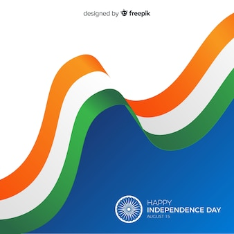 Fondo del día de la independencia de la india en diseño plano