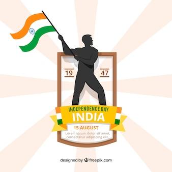 Fondo del día de la independencia de india