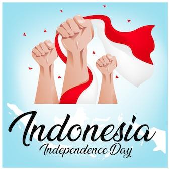 Fondo de día de la independencia de indonesia