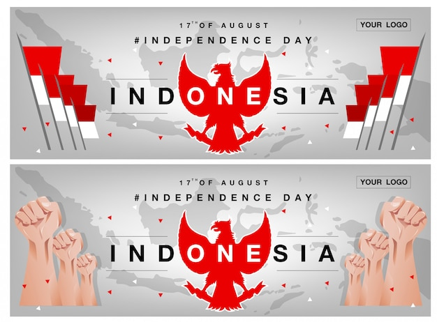 Fondo de día de la independencia de indonesia