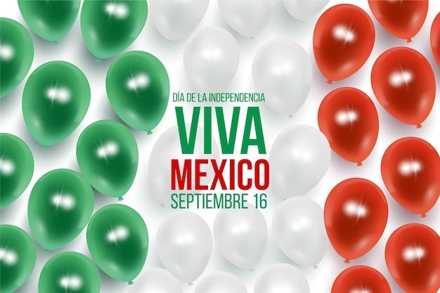 Fondo de día de la independencia mexicana realista