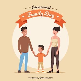 Fondo de día internacional de la familia con personas felices