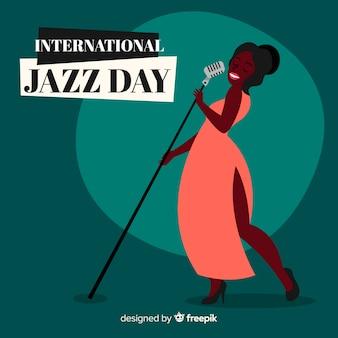 Fondo del día internacional del jazz dibujado a mano