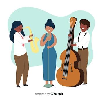 Fondo del día internacional del jazz en diseño plano