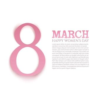 Fondo del día internacional de la mujer de marzo. plantilla de tarjeta de felicitación.