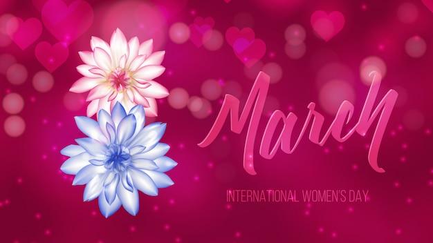 Fondo del día internacional de la mujer.
