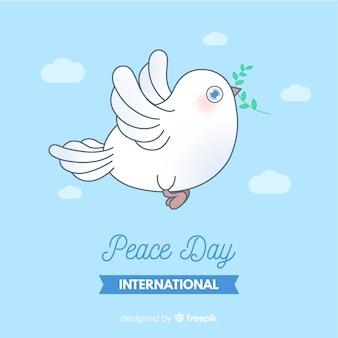 Fondo del día internacional de la paz con paloma