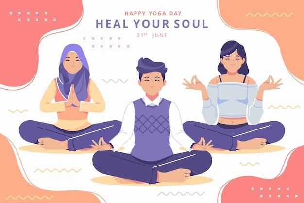 Fondo del día internacional del yoga
