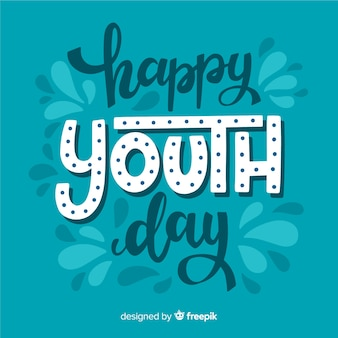 Fondo día de la juventud estilo lettering
