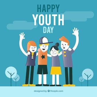 Fondo de día de la juventud con personas