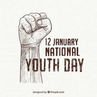 Fondo del día de la juventud