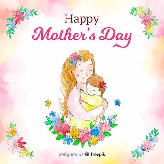 Fondo día de la madre acuarela