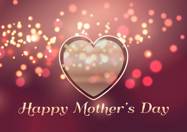 Fondo del día de la madre con diseño de corazón