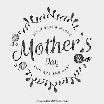 Fondo del día de la madre en estilo floral