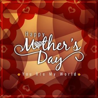 Fondo para el día de la madre con formas florales