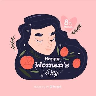 Fondo del día de la mujer en diseño plano