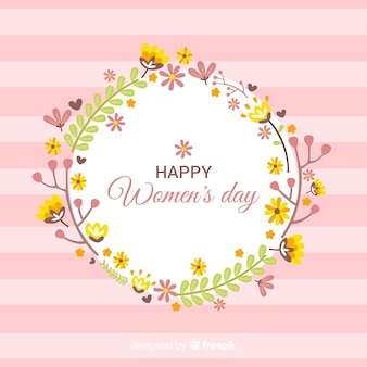 Fondo del día de la mujer floral