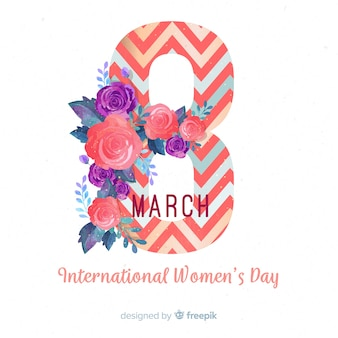 Fondo del día de la mujer de flores