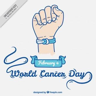 Fondo del día mundial del cáncer con pulsera