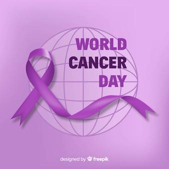 Fondo del día mundial contra el cáncer en diseño plano