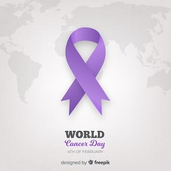 Fondo del día mundial contra el cáncer realista