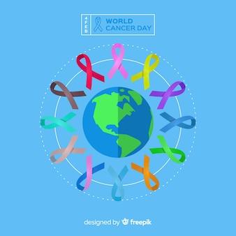 Fondo del día mundial contra el cáncer