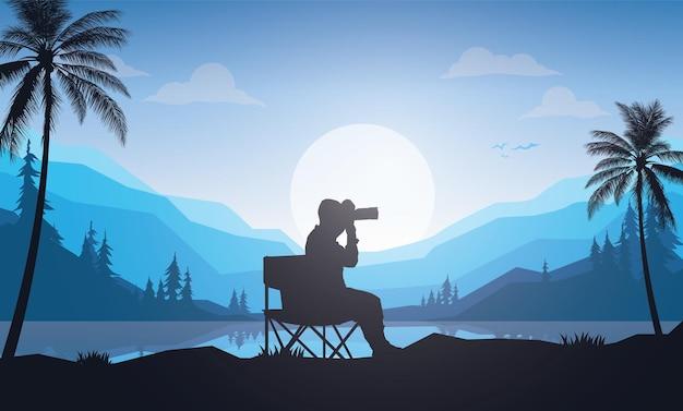 Fondo del día mundial de la fotografía
