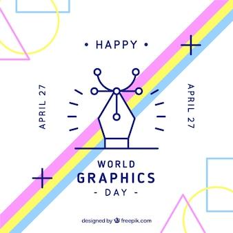 Fondo de día mundial de los gráficos en estilo plano