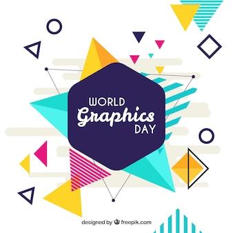 Fondo de día mundial de los gráficos