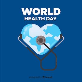 Fondo día mundial de la salud en diseño plano