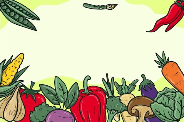 Fondo del día mundial del vegetariano dibujado a mano