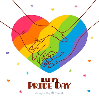 Fondo día del orgullo dibujado a mano