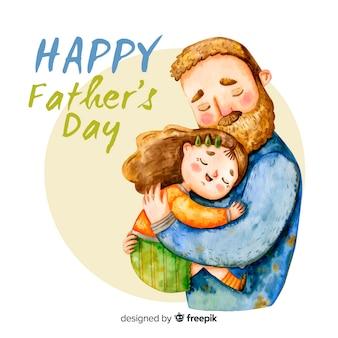 Fondo del día del padre en acuarela