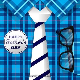 Fondo de día del padre con camisa y corbata