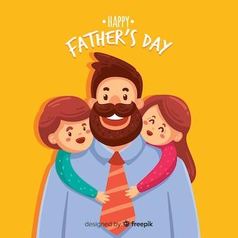 Fondo del día del padre dibujado a mano