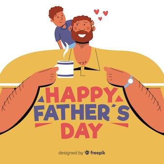 Fondo del día del padre en diseño plano