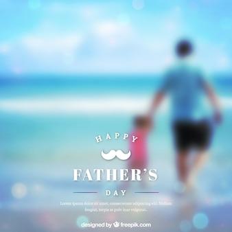 Fondo de día del padre en estilo desenfocado
