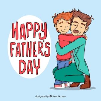 Fondo de día del padre con familia amorosa