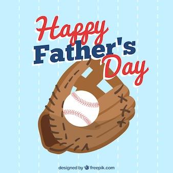 Fondo de día del padre con guante de beisbol